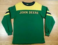 JOHN DEERE Farm Tractors 100% Cotton Long Sleeve T-Shirt L Youth Large (14/16)