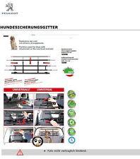 Universal Peugeot PKW Hundesicherungsgitter Trennnetz Trenngitter 1613700380