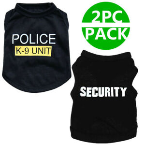 2 PCS Boy Dog Shirt Sizes XS S M Male Pet Apparel Clothes Summer Vest for Poodle