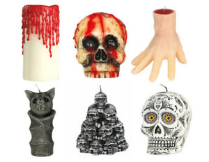 Halloween Wax Candle Prop Decoration Bat Hand Skull Horror (10cm - 15cm Tall)
