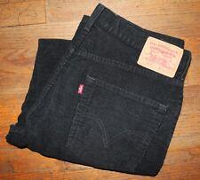 LEVI'S 569 / CORD PANTS CORDUROY / LOOSE STRAIGHT BLACK TROUSERS SIZE 34 x 34