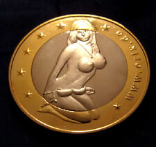 Sesso monete oro argento donna europea SEXY BABE OLANDESE HOLLAND AMSTERDAM Retrò