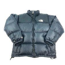 Vintage The North Face Retro Nuptse 600 Goose Down Puffer Jacket Boys Sz L Black