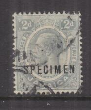 JAMAICA, 1912 KGV, 2d. Grey, SPECIMEN, GABON RECEIVING, mng.