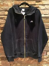 NIKE SB SKATEBOARD NSW BLACK GOLD ZIP HOODIE SWEATSHIRT 371184 010 LARGE NWT