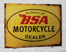 BSA Motorcycle Dealer Retro metal Aluminium Sign vintage