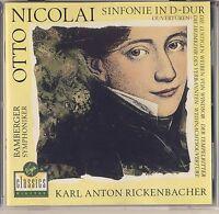 Nicolai -Rickenbacher, Bamberg SO: Sinfonie in D & Other Works (Virgin) Like New