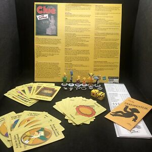 The Simpsons Clue Game Replacement Parts Movers Weapons Cards Envelope &Notepad