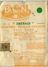 B.C.N.  EMERALD ELECTRIC PICK UP   GRAMOPHONE  NEEDLES  PACKET