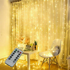3M 300 LED USB  Curtain Fairy String Light Window Xmas Wedding Warm White+Remote