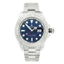 Rolex Yacht-master Acero Platino 40mm Esfera Azul Reloj Para hombres Automático 116622