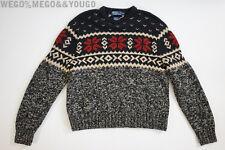 Polo Ralph Lauren Hand Knit Sweater Snowflake Wool Silk Mens Rare size XXL