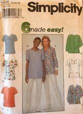 Simplicity 8351 Easy Misses' Medical Uniform Scrub Tops Size 14-16-18 UNCUT FF