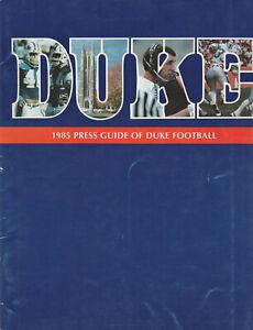 1985 Duke Blue Devils Football Media Guide