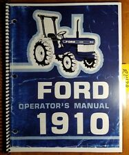 Ford 1910 Tractor 1983-87 Owner's Operator's Manual SE4096B 42191010