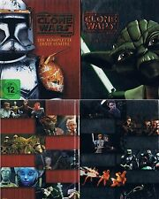 STAR WARS: THE CLONE WARS - Staffel 1 + 2 --- Blu-ray --- Mediabook ---