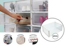 Stackable Shoe Box 8pcs Stacking Shoe Box Home Storage Click Shoe Organiser