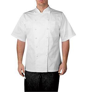 Chefwear 4050-40 Premier Executive Short Sleeve Chef Jacket, White XS-5XL