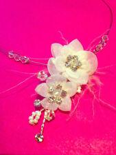 Mixed Metals Crystal Handmade Costume Necklaces & Pendants