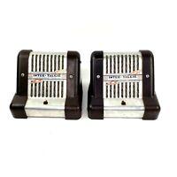 Pair Art Deco Bakelite Pakette Radio Corp. Intercom Inter Talkie
