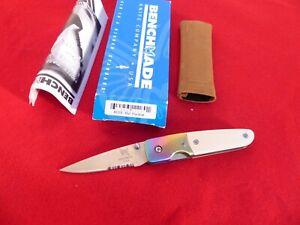 """Vintage Benchmade 850 Mel Pardue Liner Lock Knife (2.88"""" Satin)"""