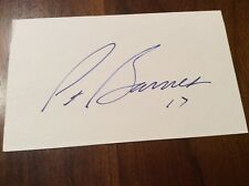PAT BARNES Signed/Auto 3x5 Index Card Kansas City Chiefs CAL BEARS Autograph