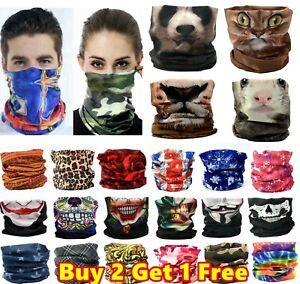 Women Men Face Cover Neck Gaiter Warmer Mask Snood Balaclava Bandana Tube Scarf