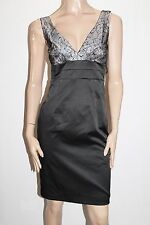 Metaphor Brand Black Lace Up Back Cocktail Dress Size 10-S BNWT #SO68
