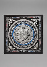 Black Cotton Canvas Kalachakra Mandala Painted Tibetan Thangka
