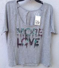 """$69 NWT Chaser Brand Grey """"More Love"""" Super Soft T Shirt Size S"""