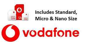 Vodafone Pay As You Go SIM Card - BUY ONE GET 1 FREE! (TRIPLE CUT -  ALL SIZES)