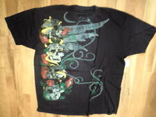 NWT Ring of Fire Black Graphic T-Shirt 100% Soft Cotton  Size XL (S-T-130)