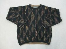 VINTAGE Tundra Sweater Adult Extra Large Black Brown MacGregor Biggie Mens 90s