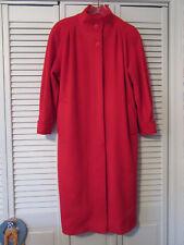 Coat Ashley Scott PETITE 10? long wool dress coat Red BEAUTIFUL