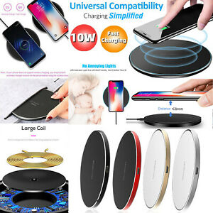 10W Fast Wireless Charger Charging Pad For Samsung  Apple iPhone XS Max XR X 11