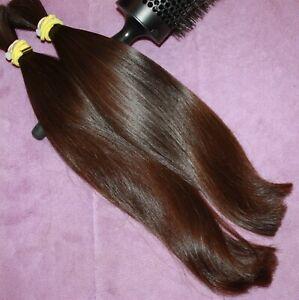 HUMAN HAIR HAIRCUT 14 INCH 3.6oz BABYFINE DARK WARM BRUNETTE PONYTAILS C22