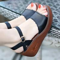 Women Wedge Sandals Peep Toe Platform Heel Lady Summer Casual Buckle Shoes Size