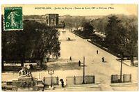 CPA 34 Herault Montpellier Jardin du Peyrou Statut de Louis XIV et Château d'eau