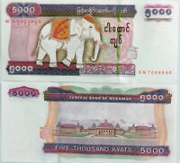 MYANMAR 5000 5,000 KYATS BURMA 2009 / 2014 P 83 WATERMARK + SECURITY UNC
