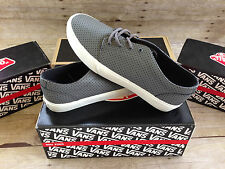 VANS 106 VULCANIZED MICRO PERF PEWTER MENS SIZE 9 SKATE SHOES NWD
