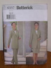 BUTTERICK PATTERN 6337 S 6-8-10 JACKET STRAIGHT SKIRT +STRAIGHT LEG PANTS MISSES