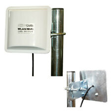 Antenna WLAN Panel 12dbi 1m Amplificatore Booster TP-LINK DLINK NETGEAR NUOVO