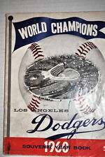 VINTAGE 1960 LOS ANGELES DODGERS WORLD CHAMPIONS MLB YEARBOOK