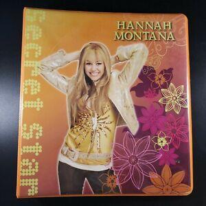 Vintage Hannah Montana 3 Ring Binder, Orange, in Great Condition