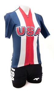 Assos Team USA Short Sleeve Cycling Kit Women MEDIUM Road Bike Race MTB Olympic