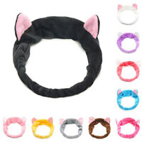 Women's Elastic Headband Wrap Make Up Bath Wash Spa Soft Cat Ears Hair Head Band