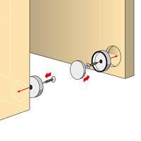 Tifler Türmagnet 2 Stück Set zum Versenken in Türe und Rahmen, Magnet-Schnapper