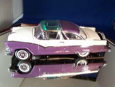 Mib Franklin Mint 1955 Purple Ford Crown Victorian No Box & Papers W/ Wheel Kit