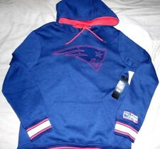 """N.E. PATRIOTS """"NFL APPAREL"""" EMBROIDERED HOODED BLUE SWEATSHIRT MEN'S SM. NEW $85"""