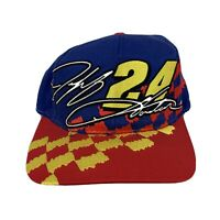 Jeff Gordon Blue and Red DuPont Refinish Racing Vtg Snapback Hat Cap 90s 2000s